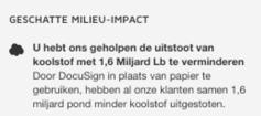 Geschatte milieu-impact
